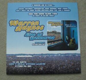 RARE Warren Haynes Record Store 24x24 Foam Album Promo Poster