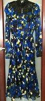 New L.K. Bennett X Preen Reed Silk Blend Dress Size UK 10 12 14