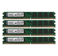 4pcs For Kingston 2GB 2Rx8 PC2-5300U DDR2 667MHz 240Pin DIMM Desktop Memory RAM