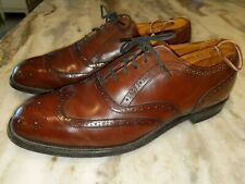VINTAGE HANOVER TRUE TRED WINGTIPS DRESS SHOES BROWN LEATHER. SIZE 9.5 D