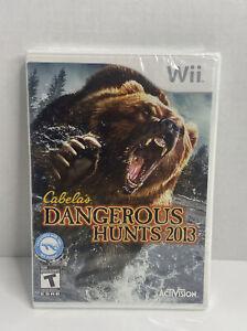 Cabela's Dangerous Hunts 2013 (Nintendo Wii, 2012) Brand New Sealed