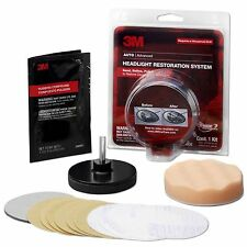 3M Plastic Headlight Lens Buffing Polish Restoration Cleaner System Restorer Kit