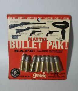 1958 Mattel Shootin Shell & Fanner Cap Guns Bullet Pak NOS Original Package