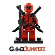 MARVEL DEADPOOL MINIFIGURE COMPATIBLE WITH LEGO (plus Bonus Minifigure**)