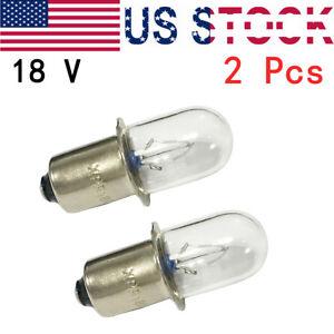 (2) RYOBI 18 VOLT Flashlight Replacement Xenon Bulb / 18v ONE+ Cordless
