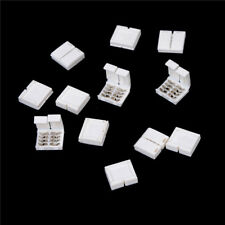 10x 4-PIN RGB Connector Adapter For 5050 RGB LED Strip Solderless 10mm w