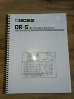 Boss Dr-5 Owners Manual