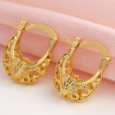 Fashion 18K Yellow Gold Filled Hoop Stud Dangle Earring Wedding Women Jewelry