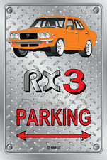Parking Sign Metal MazdA RX3 4-door-12 - Checkerplate Look