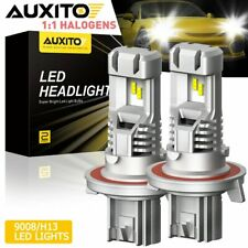 AUXITO H13 9008 LED Headlight High/Low Beam Bulb Canbus 6000K Conversion KIT PL6