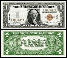 NICE CRISP UNC. 1935 $1.00 US HAWAII OVERPRINT COPY PLEASE READ DESCRIPTION