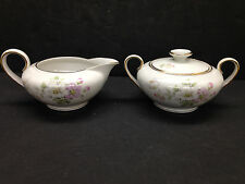 Bavaria Tirschenreuth Apple Blossom Creamer & Damaged Sugar Germany Pasco 246