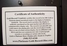 Blank Gold 45 Record Award Custom CD/DVD Display Trophy
