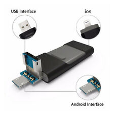 3 in 1 USB Flash Drive for iPhone/Android/PC External Memory Photo Stick 256GB