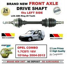 Pour Opel Combo 1.7CDTi 16V 101bhp 2004-2012 Neuf Essieu avant Gauche