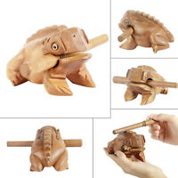Musical Instrument Wooden Frog Handcraft Wood Toy Percussion Natural Frog Sound