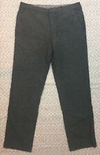 ETRO Milano Dress Pants Size 50 Men's Gray Stripped Slacks Made In Italy W27