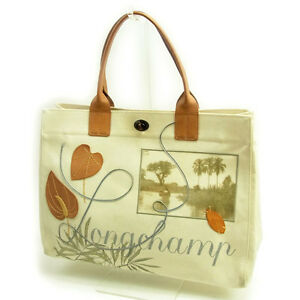 Longchamp Tote bag White Beige Woman Authentic Used Y3525