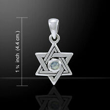 Star of David .925 Sterling Silver Pendant by Peter Stone
