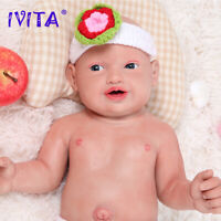Full Body Silicone Reborn Baby Doll 23''Realistic Big Eye Boy Doll With Pacifier