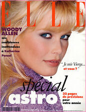 ▬►Elle 2558 (1995) CLAUDIA SCHIFFER_WOODY ALLEN_ISSERMANN_MODE FASHION VINTAGE