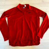 Performance Bicycle Men's Jacket Red Long Sleeve 1/4 Zip up M
