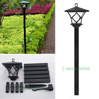 Dual Purpose LED Solar Landscape Path Lights Antique Lamp Outdoor Garden Post