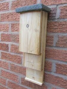 1 BAT BOXes TWIN CHAMBERS HIGH QUALITY BOX 4 Pipistrelle, Natterer's bat