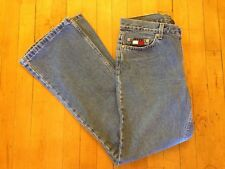 Vintage 90's TOMMY HILFIGER Women's 11 High Waist Hipster Flare Denim Mom Jeans