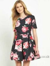 V by Very Bonded Satin Tea Dress Size UK 18 Lf083 RR 24