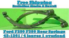 Ford F250 F350 2wd 4x4 Rear Leaf Springs 1999 - 2007 / 43-1261 - Pair