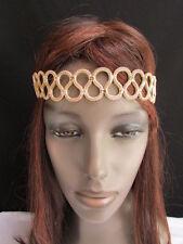 Women Gold Head Chain Fashion Jewelry Modern Geometric Waves  60's Bohemian Sexy