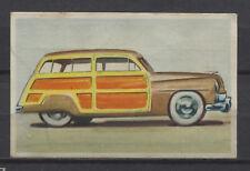 Mercury Station Car 1950 Vintage 1950s Dutch Trading Card No.84