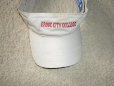 Grove City College Khaki Visor with red embroidery PA adjustable Head Case