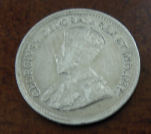 Canada 1919 Silver 5 Cents AU George V