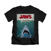 JAWS LINED POSTER Licensed Kids Toddler & Boy Graphic Tee Shirt 2T 3T 4T 4 5-6 7
