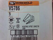 Wiremold: Adjustable Offset Connector #V5786 (Ivory) #1B-1054-C11