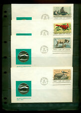 1972 FDC Set of 4 - Scott# 1464-67 - Wildlife Conservation - ??? Cachet  UA