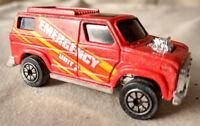 Kenner 1980 Red Emergency Unit 2 SUV Die Cast Toy Car VTG Van