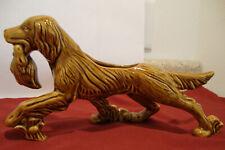 "Vintage Irish Setter Figurine Bird Hunting Dog Ceramic Planter 11"" Decorative"