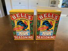 Lot of 2 BELL'S All Natural Salt Free Poultry Fish Pork Turkey Seasoning 1 oz.