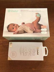 Owlet Smart Sock 3rd Gen Voice & Breathing Baby Monitor Plus Extra Socks