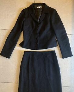 L.K.Bennett Womens Black Wool Suit Size 10