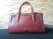 NEW Signed Autographed Selena Gomez x Coach Bond Bag With Crystal Embellishment