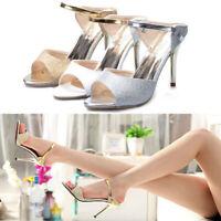 9CM Heel Women Fish Mouth Stiletto High Heel Sandal Shoes J zg