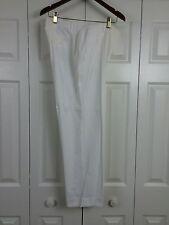 BROOKS BROTHERS Sz 10 White Cotton Flat Front Pants 32W-27I