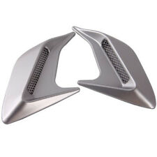 2PC DIY Car Auto Silver Decorative Side Vent Air Flow Fender Intake Stickers New