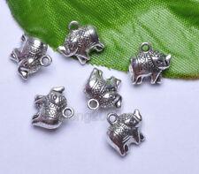 20pcs Tibetan Silver Elephant Charm Pendant Fit Beads Necklace Bracelet NH731