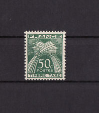 timbre France TAXE   sèrie gerbes timbre taxe  50c vert    num: 80   **