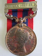 British India General Serv. Medal - BURMA 1887-9 MuleteerTulu Kam Comst T